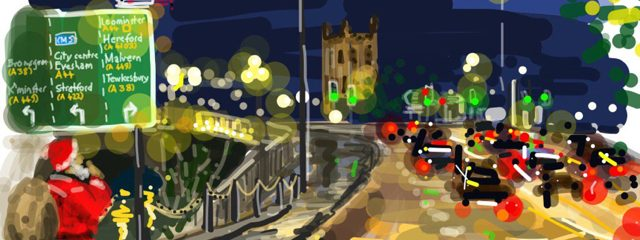 iPad artwork for Christmas cards or gifts