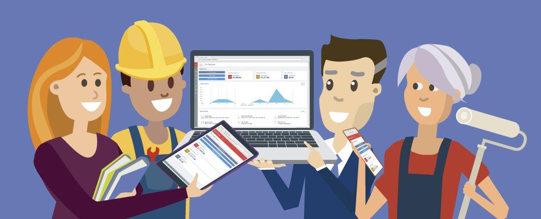 Illustration for invoicing software-worcester