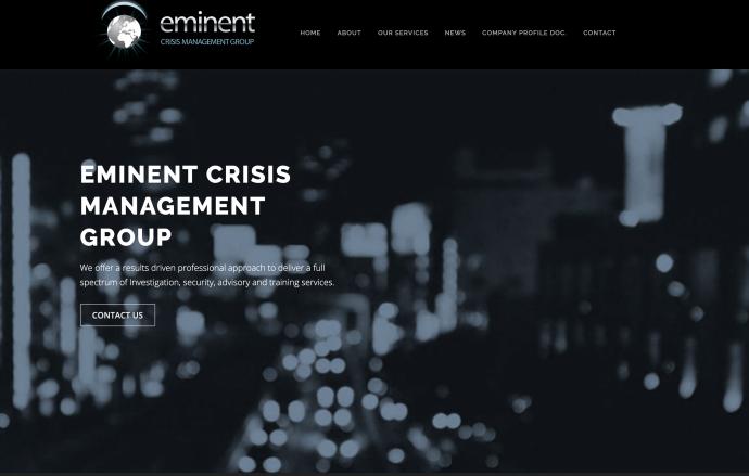 Eminent Crisis Management website